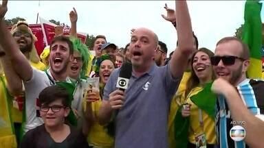 Alex Escobar traz o clima da torcida para a final da Copa do Mundo na Rússia - Alex Escobar traz o clima da torcida para a final da Copa do Mundo na Rússia