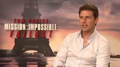Tom Cruise conta por que teve que saltar de um avião mais de 100 vezes - Em Paris, ator conversou com reportagem do Fantástico sobre interpretar pela sexta vez agente secreto Ethan Hunt, em 'Missão Impossível - Efeito Fallout'.