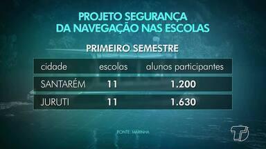 Projeto 'Segurança na Navegação' será ampliado no 2º semestre pela Capitania de Santarém - Projeto teve resultados positivos nas ações desenvolvidas no primeiro semestre. O alto comando nacional da Marinha do Brasil chegou a recomendar que o projeto se difunda em todo o país.