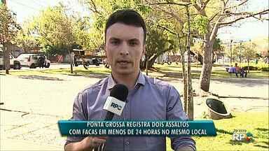 Duas pessoas são feridas durante assaltos na região central de Ponta Grossa - Os assaltos aconteceram na vila 26 de Outubro em menos de 24 horas.
