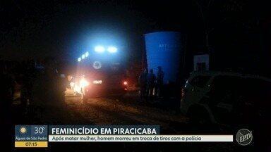 Homem de 51 anos matou a namorada em Piracicaba - Após o crime, ele trocou tiros com policiais e morreu.