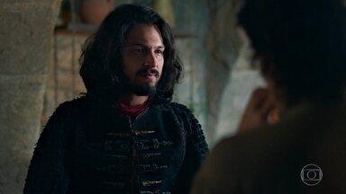 Afonso conta a Tiago que Catarina foi pega em flagrante - Ele também pede ao irmão de Amália que retorne ao exército de Montemor