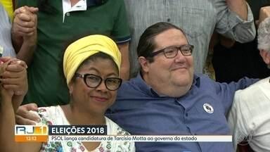 PSOL confirma Tarcísio Motta como candidato ao governo do estado - Convenção foi nesta sexta (20) com presença de lideranças do partido. Vice será professora Ivanete Silva, também do PSOL.