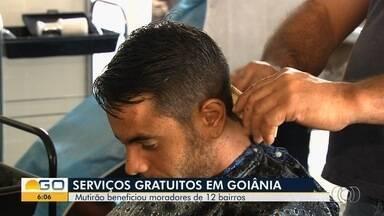 Doze bairros das regiões oeste e noroeste recebem mutirão da Prefeitura de Goiânia - Série de serviços gratuitos foram oferecidos para a população.