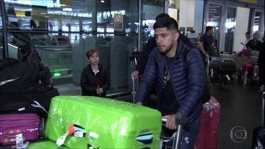 Sergio Diaz chega ao Brasil para assinar com o Corinthians - Sergio Diaz chega ao Brasil para assinar com o Corinthians