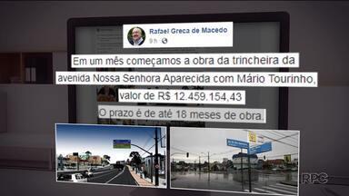 Prefeito Rafael Greca anuncia que vai construir uma trincheira no bairro Seminário - O anúncio foi feito nas redes sociais, onde o prefeito disse que a obra começa em um mês, entre a as ruas Nossa Senhora Aparecida e a Mário Tourinho.