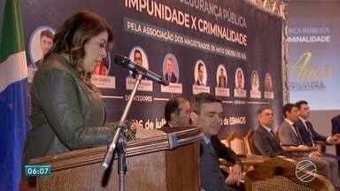 Fórum em Campo Grande debate impunidade x criminalidade - Fórum de Segurança Pública foi realizado quinta-feira (26), com a participação de vários representantes da segurança. Evento teve apoio da TV Morena.