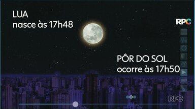 Céu limpo no Paraná permite visualização do eclipse lunar nesta sexta-feira - Confira a previsão do tempo para Maringá e região