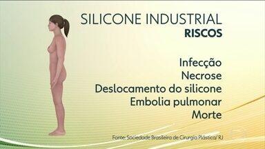 Anvisa proíbe aplicação de silicone industrial no corpo - Quem receber uma aplicação de silicone industrial corre risco de infecção, necrose, deslocamento da substância para outras partes do corpo, embolia pulmonar e até morte.