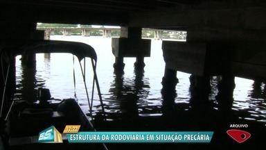Relatório aponta que parte da rodoviária de Vitória pode desabar - Há problemas estruturais no local.