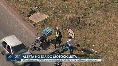 Número de atendimentos a motociclistas em pronto-socorro de BH ultrapassa 2 mil em 2018 - Hospital João XXIII registrou, no ano passado, quase 5,5 mil casos.