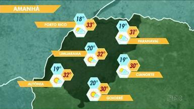 Calor aumenta, e umidade do ar cai no Noroeste neste sábado - As temperaturas devem passar dos 30 graus em todas as cidades da região.