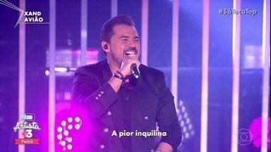 Xand Avião canta 'Inquilina' - O artista fez todo mundo cantar
