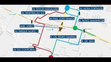 Têm mudança no trânsito do anél viário - Saiba mais em g1.com.br/ce