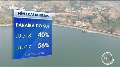 Nível das represas da região vem caindo - Nível da represa de Paraibuna está em 37% atualmente.