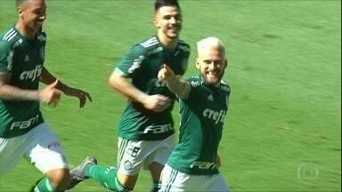 Palmeiras vence na Arena e assume a sexta colocação do Brasileirão - Palmeiras vence na Arena e assume a sexta colocação do Brasileirão