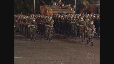 36º Batalhão de Infantaria Mecanizado de Uberlândia comemora 56 anos de criação - Solenidade foi realizada no último sábado (28) e contou com a presença de várias autoridades civis e militares da cidade.