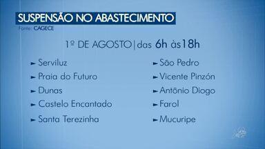 Dez bairros de Fortaleza ficarão sem água nesta quarta - Confira mais notícias em g1.globo.com/ce