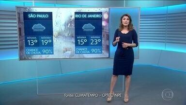 Previsão do tempo para terça (31/07) - Frente fria traz chuva e queda de temperatura para o Sul e parte do Sudeste.Sol em quase todo o Brasil