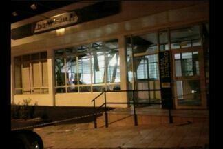 Agência bancária é assaltada em Erval Seco - Criminosos explodiram o caixa eletrônico na madrugada de hoje (01).