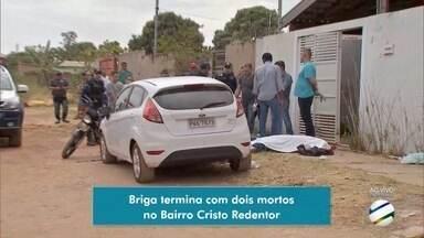 Briga entre patrão e empregado termina com os dois mortos no bairro Cristo Redentor em MS - Um deles estava armado com uma faca e o outro com um revólver.