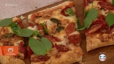 Pizza de pão de queijo - O chef Philipe Martins ensina como fazer