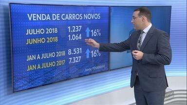 Cresce a venda de carros zero quilômetro em Ribeirão Preto - Em julho, 1.230 mil modelos foram vendidos em concessionárias da cidade.