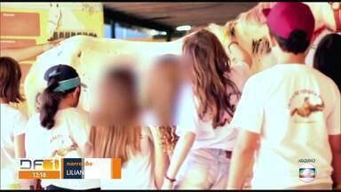 Hípica é advertida sobre pintura em cavalo durante colônia de férias - Para o Ibama, não houve maus tratos, mas abuso.