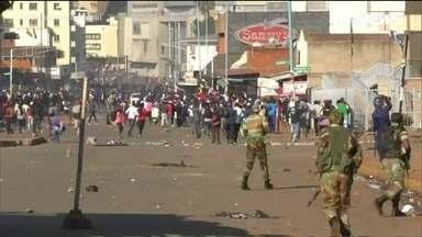 A crise do Zimbábue toma as ruas