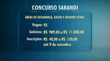 Prefeitura de Sarandi abrirá inscrições para concurso público - São 93 vagas em diferentes áreas.