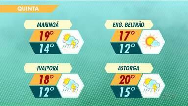 Confira a previsão do tempo nesta quinta-feira - A mínima na sexta-feira deve ser de 6 graus