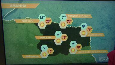 Temperatura vai cair ainda mais no Paraná nos próximos dias - Segundo a meteorologia, a temperatura mínima pode chegar aos 6 graus em Londrina.