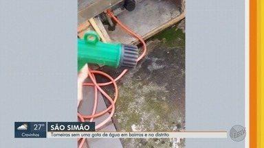 Moradores de quatro bairros de São Simão reclamam da falta de água - Prefeitura disse que a bomba que abastece os bairros passa por manutenção.