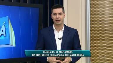 Homem morre em conflito com a Polícia Militar em Telêmaco Borba - Segundo a Polícia, o homem de 31 anos estava em uma moto e não obedeceu à ordem de parada.