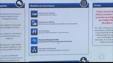 Saiba como pedir ajuda à polícia em casos de desaparecimento na Paraíba - Denúncia pode ser feita pela internet.