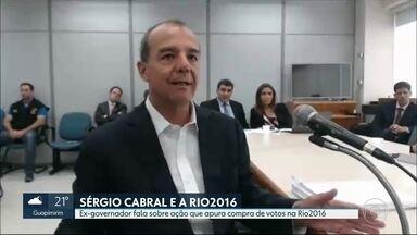 Sérgio Cabral participa de mais uma audiência na Lava Jato - Ex-governador falou ao juiz Marcelo Brêtas sobre a acusação de compra de votos para a escolha do Rio como sede da Olimpíada de 2016. Ele negou as acusações. Enquanto isso, TRF-4 negou recurso em processo de propinas no Comperj.