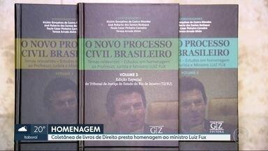 Ministro Luiz Fux recebe homenagem no Tribunal de Justiça - Coletânea de livros sobre o Código de Processo Civil faz referência ao ministro do Supremo Tribunal Federal.