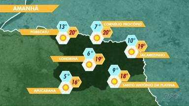 Temperatura deve chegar aos 6 graus nesta sexta-feira (10) em Londrina - Massa de ar polar que chegou ao Estado permanece até o fim de semana.