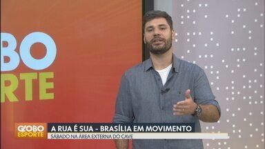 """Guará recebe o projeto """"A Rua É Sua"""" neste sábado (11) - Iniciativa da TV Globo chega ao Parque da Cidade com aulas de yoga, automassagem e dicas de saúde gratuitamente. Atividades começam às 8h."""