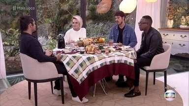 Bruno Gissoni, José Loreto e Mumuzinho conversam sobre a paternidade moderna - Gissoni, Loreto e Mumuzinho participa do 'Mais Você'