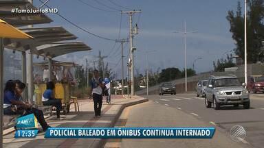 Policial baleado durante tentativa de assalto segue internado em Salvador - O policial e uma mulher foram encaminhados ao hospital; a polícia investiga o caso.