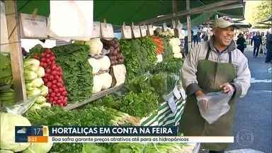 Boa safra e frio derrubam preço das hortaliças e também das hidropônicas - Preço caiu, em média, 5%.