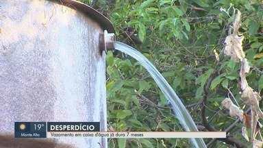 Vazamento em caixa d'água completa 7 meses no Dom Mielle em Ribeirão Preto - Daerp alega que problema deve ser resolvido pelo DAEE.