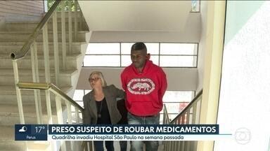 A polícia prendeu o primeiro suspeito do roubo de medicamentos do Hospital São Paulo - A quadrilha invadiu o Hospital São Paulo na semana passada e roubou uma carga de medicamentos avaliada em R$ 818 mil.