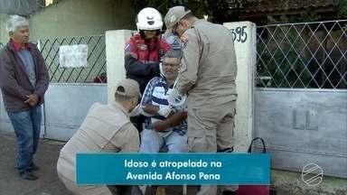 Idoso é atropelado no centro de Campo Grande - O motorista fugiu sem prestar socorro.