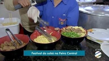 Festival do Sobá é opção de lazer para campo-grandense no fim de semana - Evento acontece na feira central de Campo Grande.