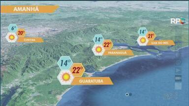 Dia dos Pais será com Sol em todo Paraná - Em Curitiba. máxima prevista de 20°C.
