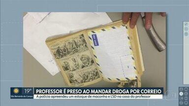 Professor foi preso ao tentar enviar drogas pelo correio - O professor foi preso em flagrante no momento em que tentava mandar maconha e LSD em meio a uma revista em quadrinhos do velho oeste.