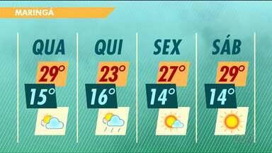 Confira como fica a previsão do tempo neste feriado em Maringá - A máxima hoje deve chegar aos 29 graus em Maringá