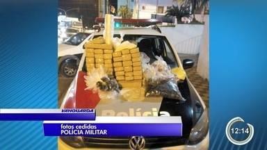 PM estoura refinaria e prende homem e mulher com mais de 30 kg de drogas - Flagrante foi na noite de terça (21).